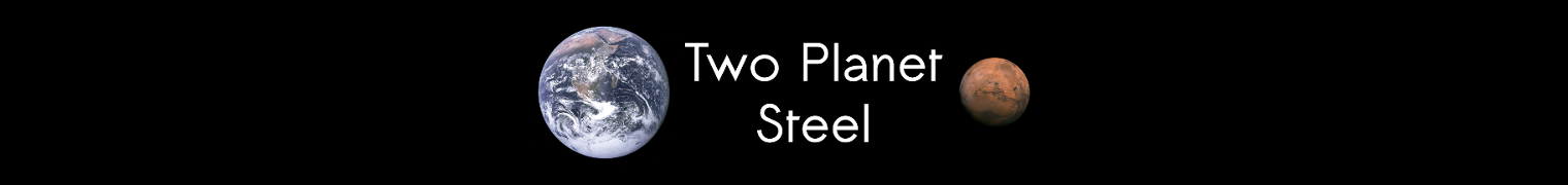 Two Planet Steel banner logo